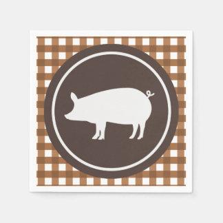 Serviettes En Papier Serviettes mignonnes de partie de rôti de porc
