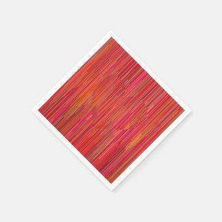 Serviettes En Papier Serviettes rouges de coeur