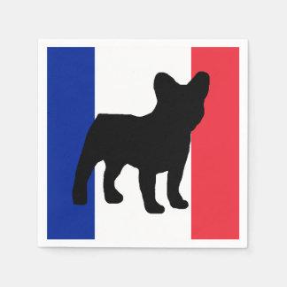 Serviettes En Papier silo France flag.png de bouledogue français