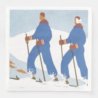 Serviettes En Papier Ski SUPÉRIEUR