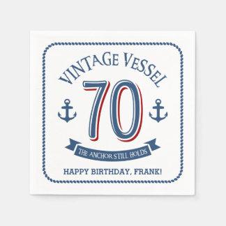 Serviettes En Papier Soixante-dixième anniversaire nautique