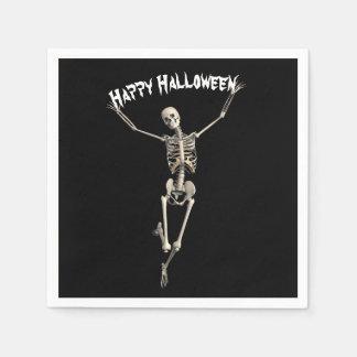 Serviettes En Papier Squelette de Halloween