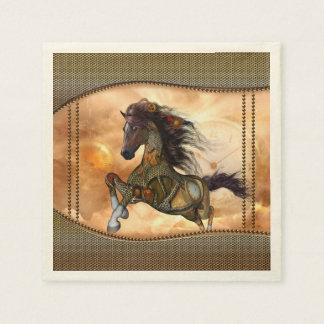 Serviettes En Papier Steampunk, cheval impressionnant de steampunk