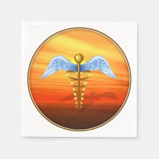 Serviettes En Papier Symbole médical de caducée