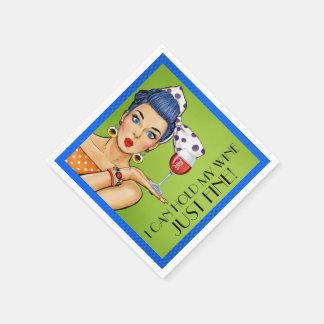 Serviettes En Papier VENTE ! Rétros serviettes de cocktail de vin