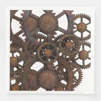 Serviettes En Papier Vitesses rouillées en métal de Steampunk