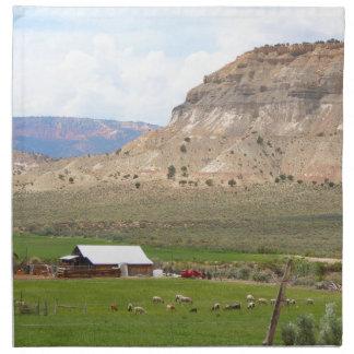 Serviettes En Tissus Agriculture du pays et des collines, l'Utah du sud