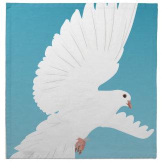 Serviettes En Tissus Aile d'animal de nature de plume d'oiseaux