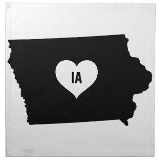 Serviettes En Tissus Amour de l'Iowa