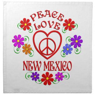 Serviettes En Tissus Amour Nouveau Mexique de paix