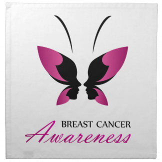 Serviettes En Tissus Appui de conscience de cancer du sein