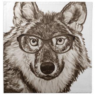 Serviettes En Tissus Art de ballot de loup