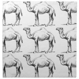 Serviettes En Tissus Art de troupeau de chameau