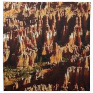 Serviettes En Tissus art rouge approximatif de roche