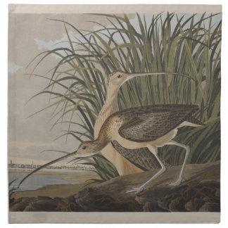 Serviettes En Tissus Audubon Long-A affiché le bécasseau de courlis