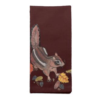 Serviettes En Tissus Automne Chipmunk~napkins