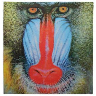 Serviettes En Tissus babouin flairé rouge