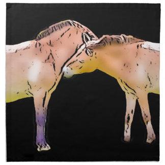 Serviettes En Tissus Baisers de chevaux sauvages