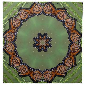 Serviettes En Tissus Beau kaléidoscope de papillon de monarque