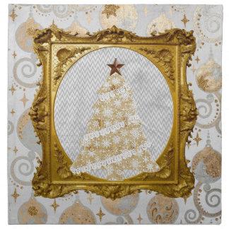 Serviettes En Tissus Bel arbre de dentelle et de flocon de neige