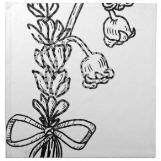Serviettes En Tissus Bouquet