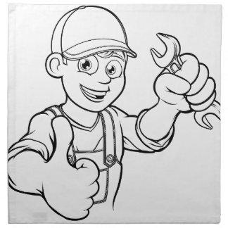 Serviettes En Tissus Bricoleur de mécanicien ou de plombier avec la