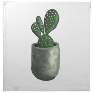Serviettes En Tissus Cactus