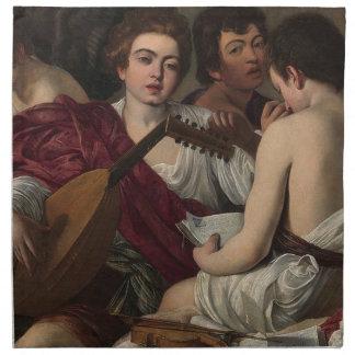 Serviettes En Tissus Caravaggio - les musiciens - illustration