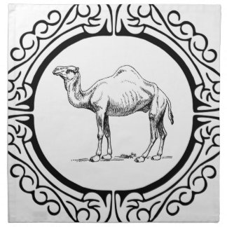 Serviettes En Tissus cercle du chameau