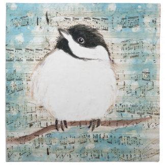 Serviettes En Tissus Chanson de musique de birdie