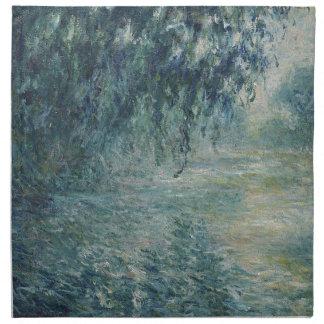 Serviettes En Tissus Claude Monet - matin sur l'oeuvre d'art de la