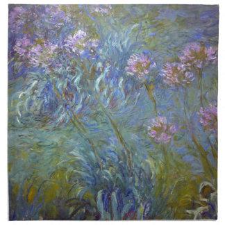 Serviettes En Tissus Claude Monet - peinture classique de fleurs
