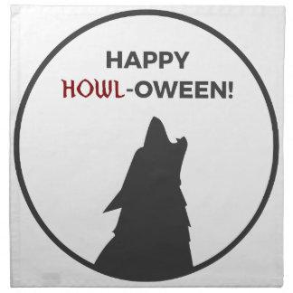 Serviettes En Tissus Conception heureuse de Halloween de loup-garou