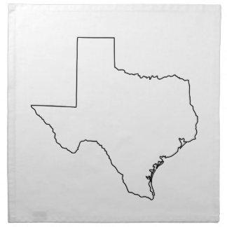 Serviettes En Tissus Contour de collection du Texas