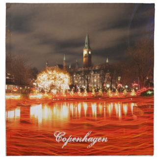 Serviettes En Tissus Copenhague, Danemark à Noël