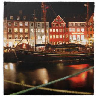 Serviettes En Tissus Copenhague la nuit