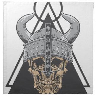 Serviettes En Tissus Crâne de Viking