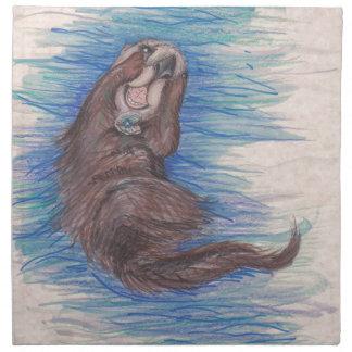 Serviettes En Tissus Créature d'animal sauvage de loutre de mer petite