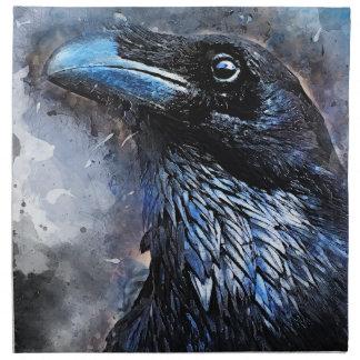 Serviettes En Tissus #crow d'art d'oiseau de corneille