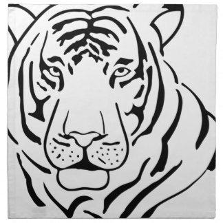 Serviettes En Tissus Dessin sauvage de tigre
