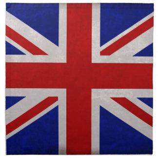 Serviettes En Tissus Drapeau Anglais d'Angleterre texturé