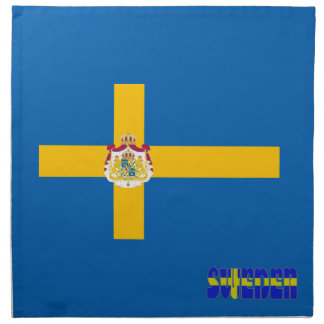 Serviettes En Tissus Drapeau suédois