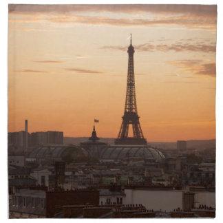 Serviettes En Tissus Eiffel Tower in sunset, Paris, France