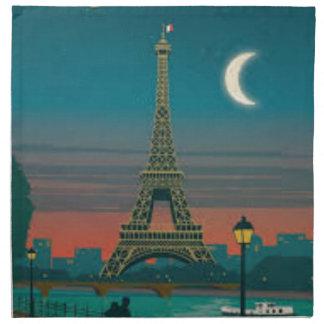 Serviettes En Tissus Eiffel Tower vintage Paris