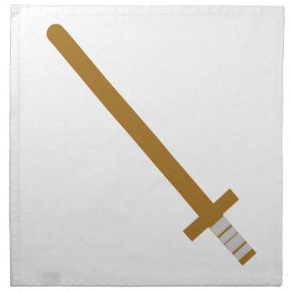 Serviettes En Tissus Épée en bois
