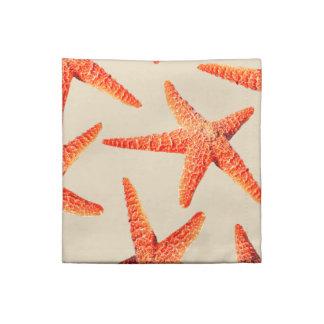 Serviettes En Tissus Étoiles de mer côtières de rouge de style de plage