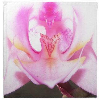 Serviettes En Tissus extrémité étroite de l'intérieur d'une fleur