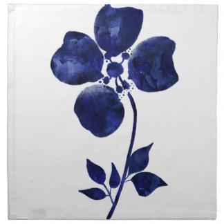 Serviettes En Tissus Fleur bleue
