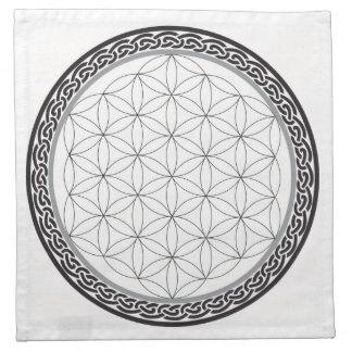 Serviettes En Tissus Fleur celtique de grille de la vie