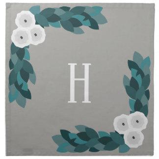Serviettes En Tissus Fleurs et feuillage blancs modernes de Ranunculus